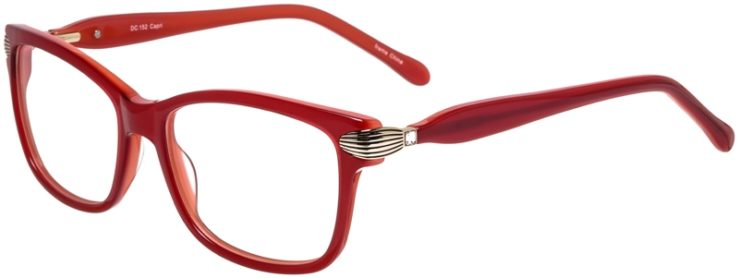 Prescription Glasses Model DC152-Red-45