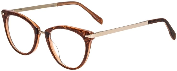 Prescription Glasses Model DC156-BrownGold-45