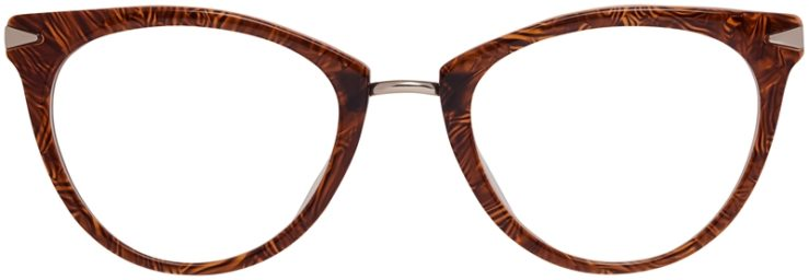 Prescription Glasses Model DC156-BrownGold-Front