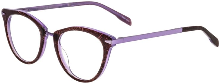 Prescription Glasses Model DC156-BrownPurple-45
