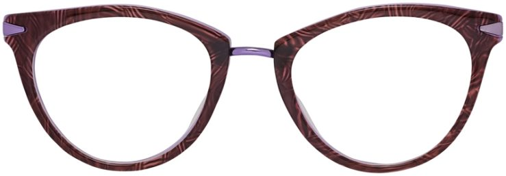 Prescription Glasses Model DC156-BrownPurple-Front