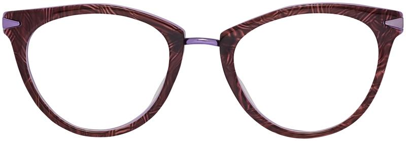408867d56204 Prescription Glasses Model DC156-BrownPurple-Front