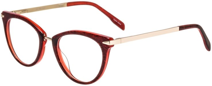 Prescription Glasses Model DC156-Burgundy-45