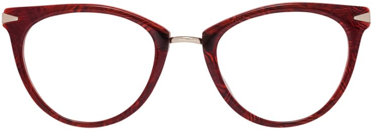 Prescription Glasses Model DC156-Burgundy-Front