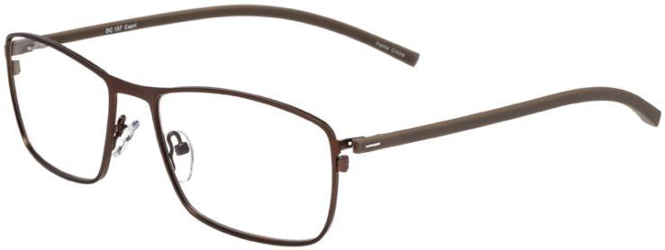 Prescription Glasses Model DC157-Brown-45