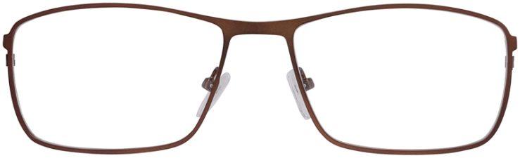 Prescription Glasses Model DC157-Brown-Front