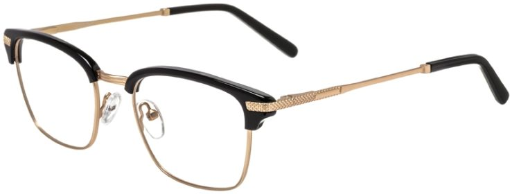 Prescription Glasses Model DC319-BlackGold-45
