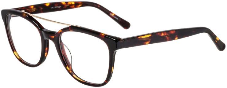 Prescription Glasses Model DC321-Tortoise-45