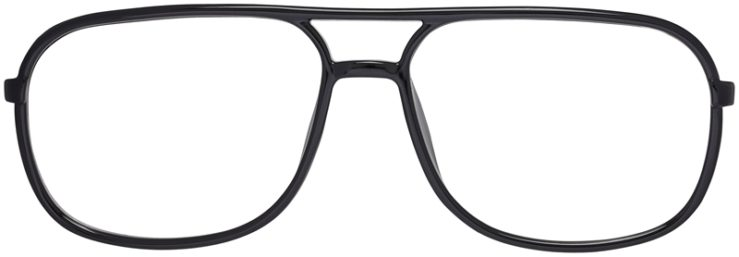 Prescription Glasses Model Leo-Black-FRONT