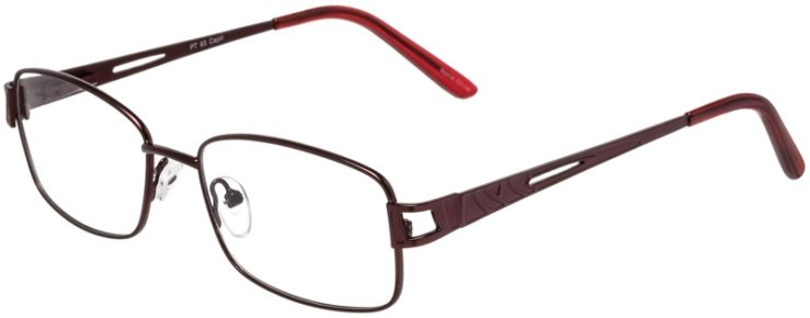 Prescription Glasses Model PT93-Burgundy-45