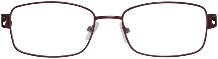 Prescription Glasses Model PT93-Burgundy-FRONT