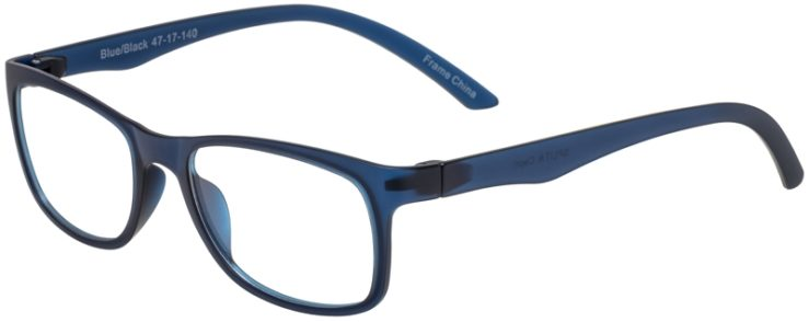 Prescription Glasses Model SplitA-BlueBlack-45
