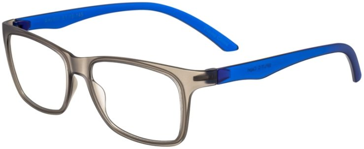 Prescription Glasses Model SplitC-GreyBlue-45