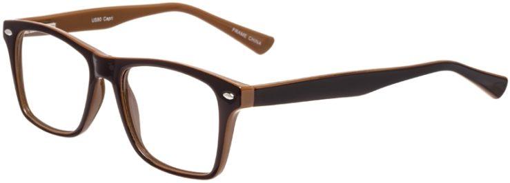 Prescription Glasses Model US80-Brown-45