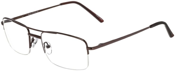Prescription Glasses Model VP134-Brown-45
