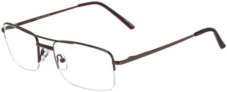 Prescription Glasses Model VP134-Brown-45