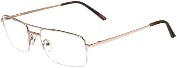 Prescription Glasses Model VP134-Gold-45