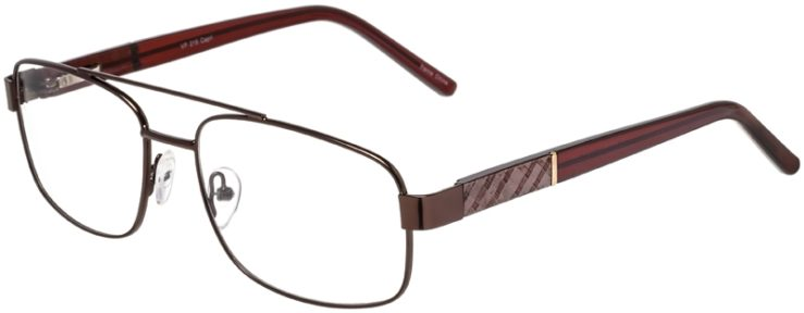 Prescription Glasses Model VP215-Brown-45