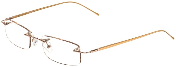 Prescription Glasses Model 3918-Gold-45