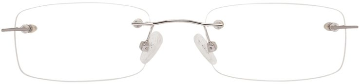 Prescription Glasses Model 3918-Silver-FRONT