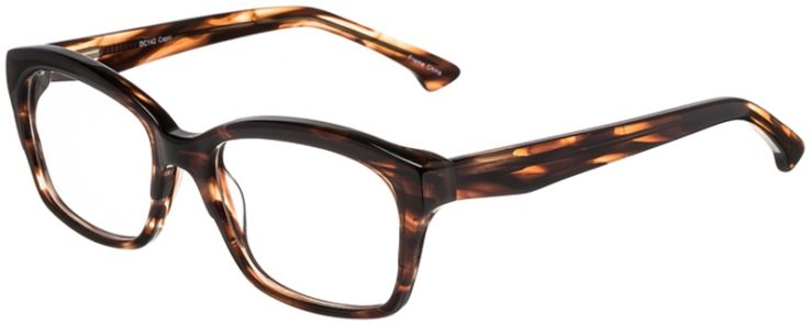 Prescription Glasses Model DC142-Brown-45