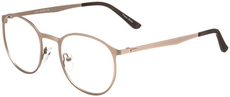 Prescription Glasses Model DC153-Gold-45