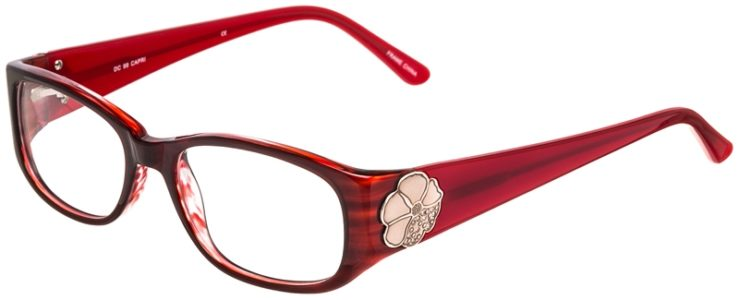 Prescription Glasses Model DC99-Burgundy-45