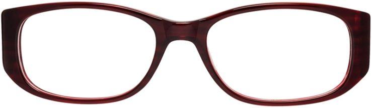 Prescription Glasses Model DC99-Burgundy-FRONT