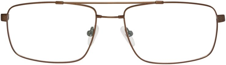 Prescription Glasses Model FX107-Brown-FRONT