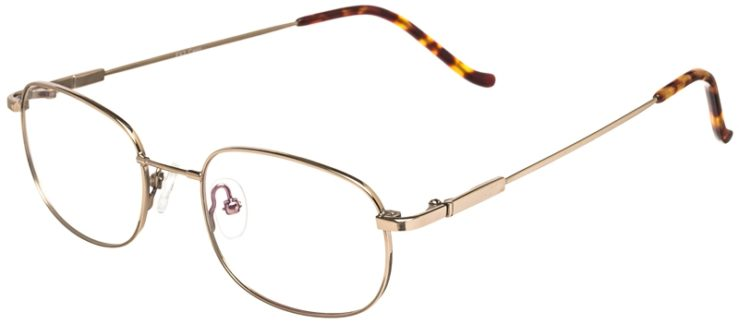 Prescription Glasses Model FX3-Gold-45