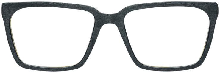 PRESCRIPTION-GLASSES-MODEL-ART-316-BLACK-WOOD-FRONT
