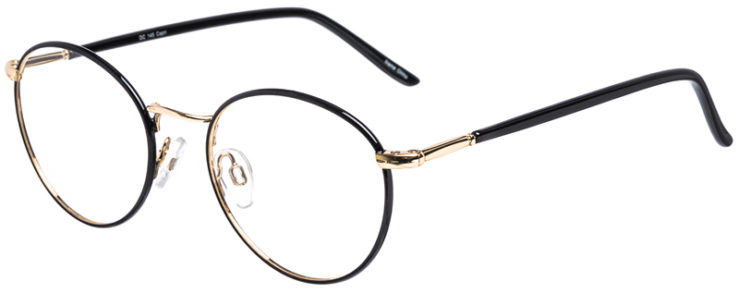 PRESCRIPTION-GLASSES-MODEL-DC-145-BLACK-GOLD-45
