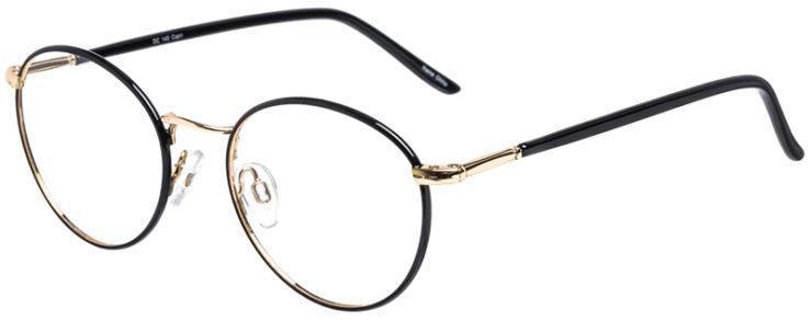 PRESCRIPTION-GLASSES-MODEL-DC-145-BLACK-GOLD-45