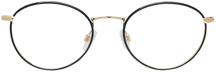 PRESCRIPTION-GLASSES-MODEL-DC-145-BLACK-GOLD-FRONT
