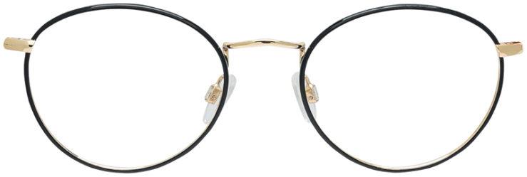 PRESCRIPTION-GLASSES-MODEL-DC-145-BLACK-GOLD-FRONT
