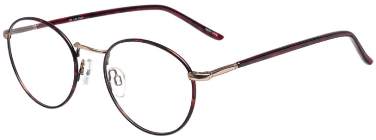 PRESCRIPTION-GLASSES-MODEL-DC-145-DEMI-AMBER-GOLD-45
