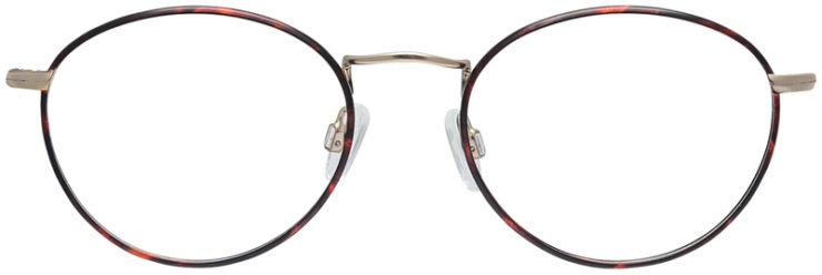PRESCRIPTION-GLASSES-MODEL-DC-145-DEMI-AMBER-GOLD-FRONT