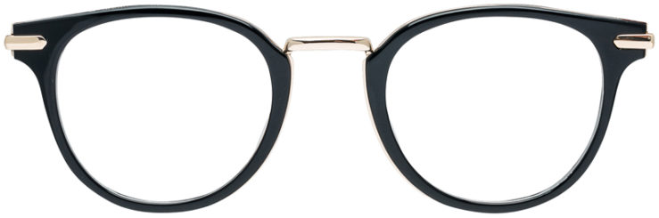 PRESCRIPTION-GLASSES-MODEL-DC-163-BLACK-GOLD-FRONT