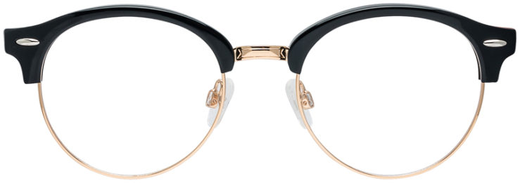 PRESCRIPTION-GLASSES-MODEL-DC-324-BLACK-GOLD-FRONT