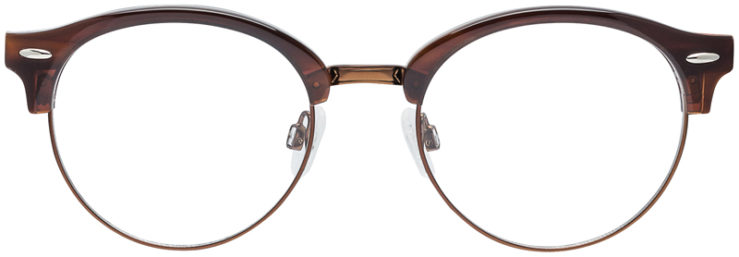 PRESCRIPTION-GLASSES-MODEL-DC-324-BROWN-FRONT