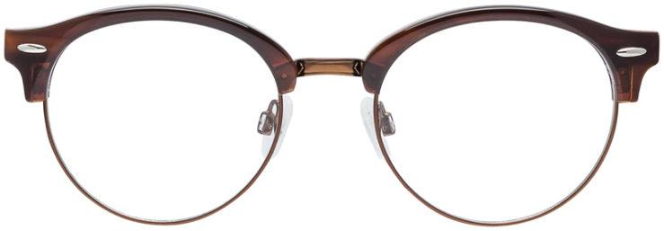 PRESCRIPTION-GLASSES-MODEL-DC-324-BROWN-FRONT