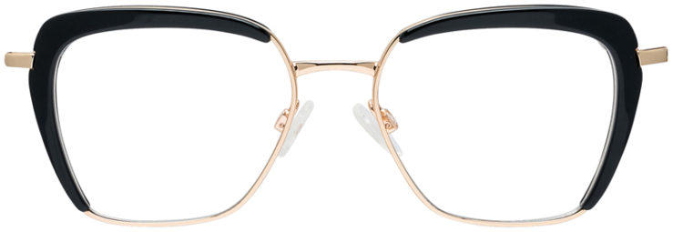 PRESCRIPTION-GLASSES-MODEL-DC-325-BLACK-GOLD-FRONT