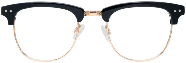 PRESCRIPTION-GLASSES-MODEL-DC-326-BLACK-GOLD-FRONT