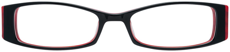 PRESCRIPTION-GLASSES-MODEL-DC-71-BLACK-RED-FRONT