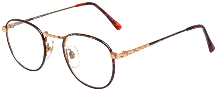 PRESCRIPTION-GLASSES-MODEL-GEEK-203-DEMI-AMBER-GOLD-45