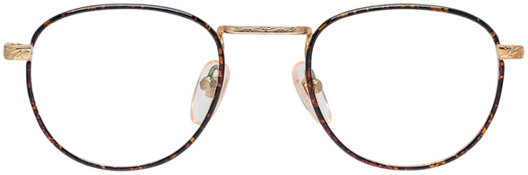 PRESCRIPTION-GLASSES-MODEL-GEEK-203-DEMI-AMBER-GOLD-FRONT 2