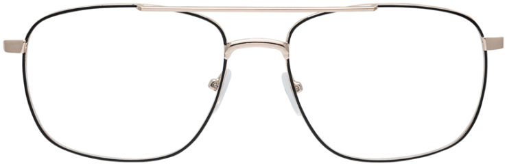 PRESCRIPTION-GLASSES-MODEL-OLIVE-BLACK-GOLD-FRONT