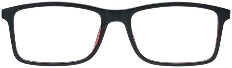 PRESCRIPTION-GLASSES-MODEL-PARKER-BLACK-RED-FRONT