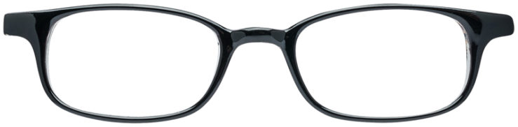 PRESCRIPTION-GLASSES-MODEL-U-13-BLACK-CRYSTAL-FRONT