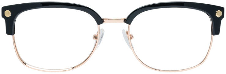 PRESCRIPTION-GLASSES-MODEL-VP-131-GOLD-BLACK-FRONT